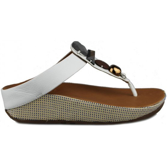 FITFLOP JEWELEY TOE POST BLANCO
