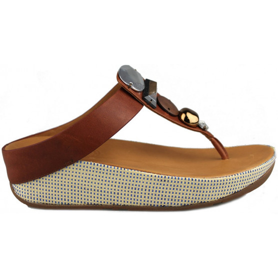 FITFLOP JEWELEY TOE POST  MARRON