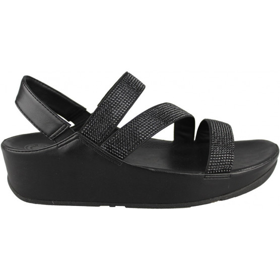 FITFLOP CRYSTALL Z STRAP SANDAL NEGRO