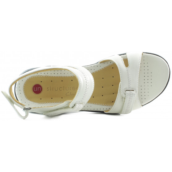CLARKS UN GALLEON COTTON SANDALIA MUJER COMODA  BLANCO