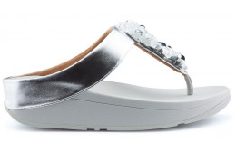 SANDALIAS FITFLOP SEQUIN TOE THONGS SILVER