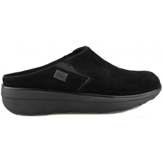 FITFLOP LOAFF SUEDE CLOGS NEGRO