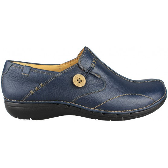 CLARKS UN LOOP LEATHER PIEL color BLUE