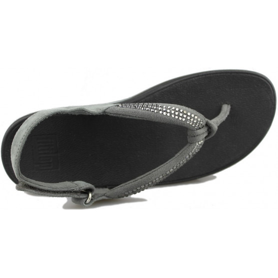 FITFLOP CRYSTAL SWIRL SANDAL TIRA color NEGRO