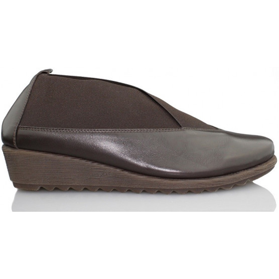 FLEXX STRECH RUN ZAPATO CUÑA COMODA MARRON