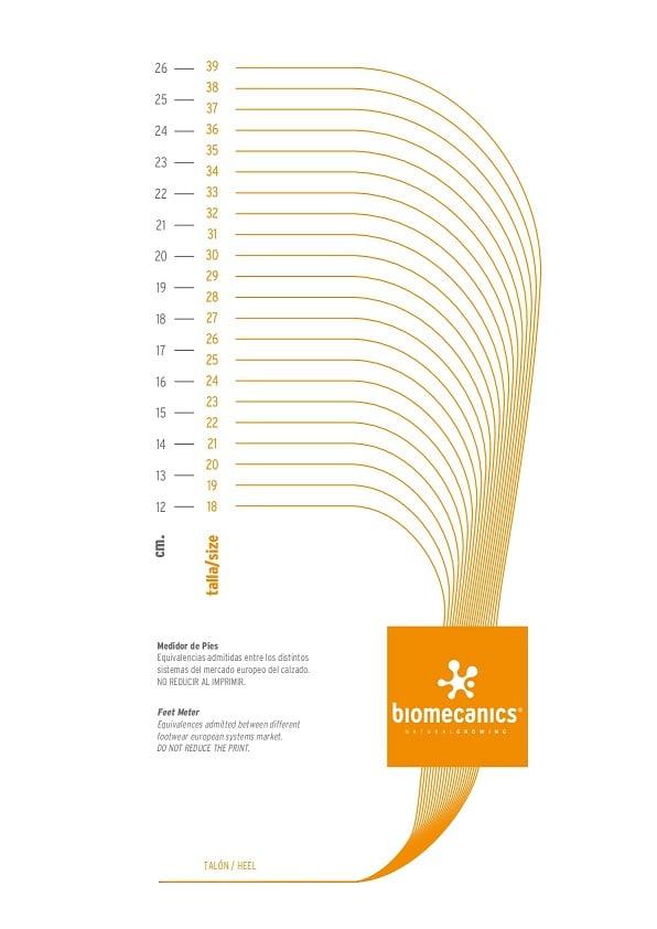 ley rima práctica  Zapatos Biomecanics ¿Qué talla elegir? - LAlqueria